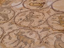 Old Roman mosaic floor Royalty Free Stock Images