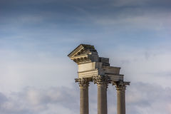 Roman pillars in the archeological park of Xanten Royalty Free Stock Image
