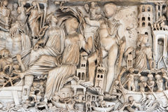 Old Roman Relief Stock Photography
