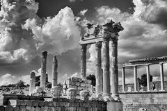 Old roman ruin in Bergama Royalty Free Stock Photo