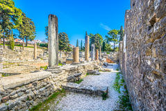 Old roman ruins in Salona, Croatia. Stock Photo