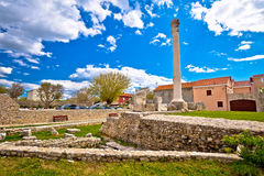 Old roman ruins in town of Nin Royalty Free Stock Image
