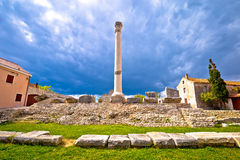 Old roman ruins in town of Nin Stock Photos
