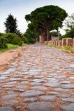 Old roman stony street at Ostia Antica - Rome Stock Photos