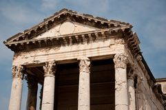 Old roman temple in Croatia Royalty Free Stock Image