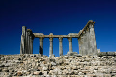 Old Roman temple in Evora Stock Images