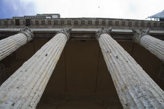 Old Roman temple in the Tuscany town of Assisi Royalty Free Stock Photo