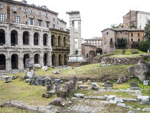 Old Roman theater and arch Royalty Free Stock Photo
