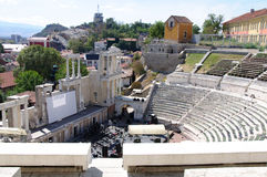 Old roman theatre. In Plovdiv city, centarl Bulgaria Royalty Free Stock Image
