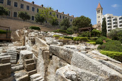 Old roman thermes ruin in Beirut. Downtown, Lebanon Royalty Free Stock Photos