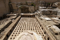 Old roman thermes ruin in Beirut. Downtown, Lebanon Royalty Free Stock Images