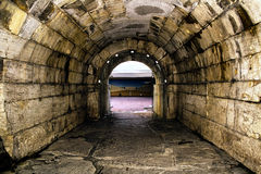 Old roman tunnel to gladiator arena Stock Photography