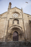 Old Romanesque Cathedral of Plasencia Stock Photos