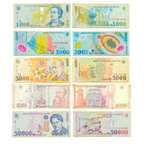 Old Romanian banknotes Stock Images