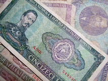 Old romanian money Royalty Free Stock Photography