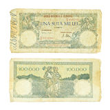 Old Romanian money. From 21 October 1946 Royalty Free Stock Photo
