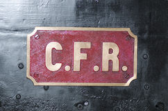 Old Romanian Railway Company商标 库存图片