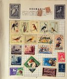 Old Romanian Stamps Stock Photo