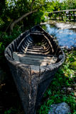 Old romanian traditional boat in Sf. Gheorghe, Danube Delta. Stock Photography
