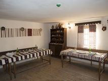 Old Romanian traditional inn at the Village Museum of Valcea County Stock Image