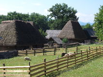Old romanian village view Royalty Free Stock Photography