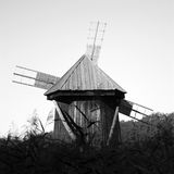 Old romanian wind mill Royalty Free Stock Image
