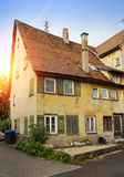 Old Romantic dilapidate house and garden style Idyllic places in Germany Royalty Free Stock Images