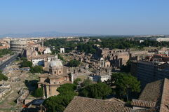 Old Rome from the Altar of the Fatherland Stock Photo