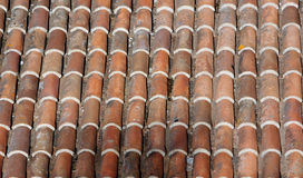 Old roof. Of tile Stock Images