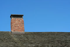 Old Roof And Chimney Stock Images