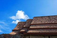 Old roof Asian architecture. Old roof tiles Asian architecture Royalty Free Stock Images