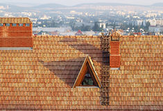 Old roof of a building Royalty Free Stock Photos