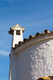 Old roof with chimney Royalty Free Stock Photography