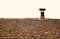 Old Roof and Chimney Stock Image
