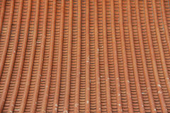 Old roof of Chinese buildings with beautiful pattern Royalty Free Stock Photo