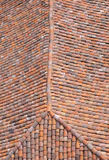 Old roof with colorful ceramic tiles Stock Photos