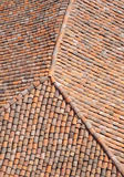 Old roof with colorful ceramic tiles Royalty Free Stock Photo