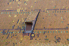 Old roof in Gdansk Royalty Free Stock Photo