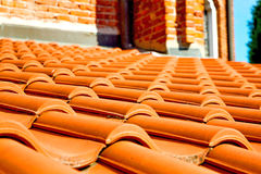 old roof in italy the line of diagonal architecture royalty free stock image