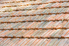 Old roof made of roof tiles Royalty Free Stock Photo