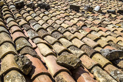 Old roof. Made with terracotta tile Royalty Free Stock Photography