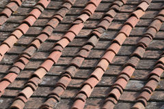 Old Roof Pans on a House in Florence, Italian Royalty Free Stock Images