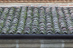 Old roof ready to get rain water. Royalty Free Stock Photo