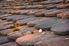 Old roof, roof clapboards Royalty Free Stock Images