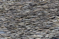 Old roof with shingle. Detail view Stock Image