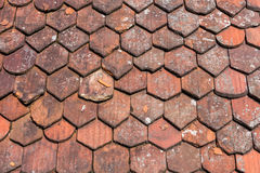 Old roof shingles background Stock Photo
