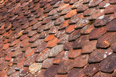 Old roof shingles background Royalty Free Stock Image