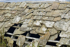 Old Roof Slate That Wants Repairing Royalty Free Stock Image