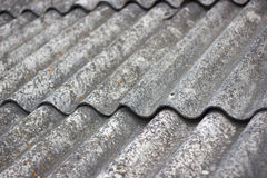 Old Roof texture background. Old roof background texture of asbestos. Asbestos on house building Royalty Free Stock Photos