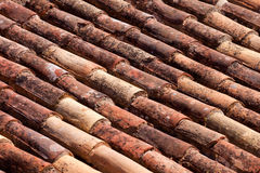 Old roof tile background. Old clay roof tile background Stock Image